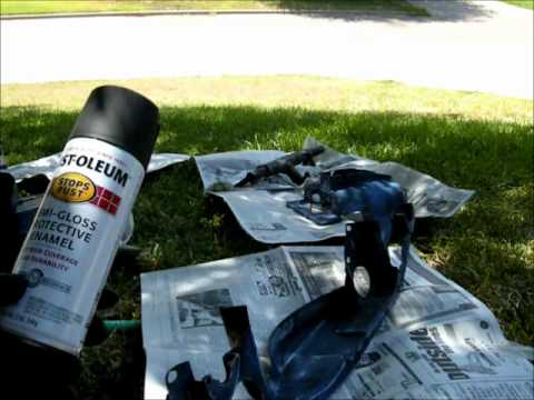 Removing and painting the tins part 2