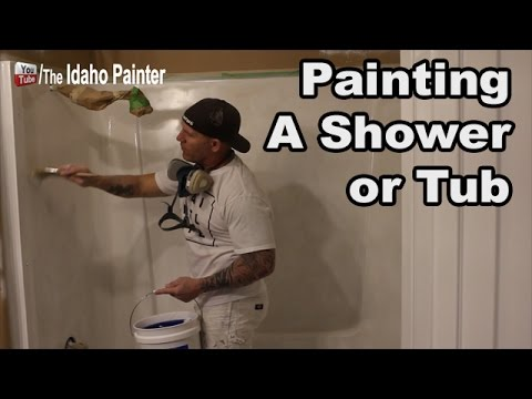 How to paint a shower or bathtub.