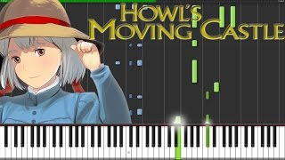 Repeat youtube video Howl's Moving Castle Theme [Piano Tutorial] (Synthesia) // Fontenele NXT