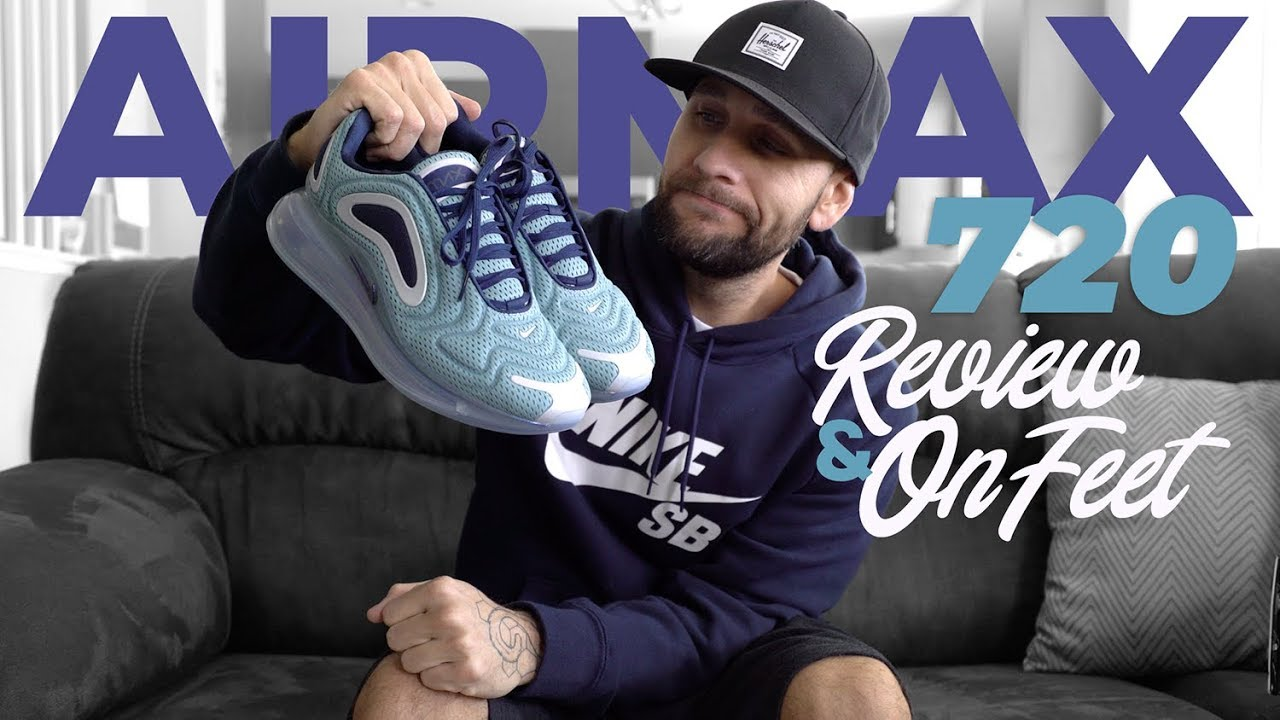 fb29bee0d53 NIKE AIR MAX 720 REVIEW AND ON FEET - YouTube