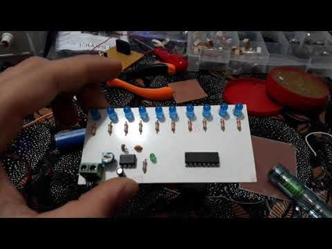 Cd4017 Entegresi ile Yürüyen Işık Devresi(Baskı Devre)