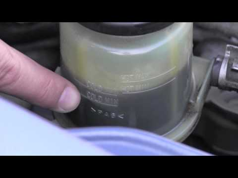 Toyota Matrix Power Steering Fluid Inspection Youtube
