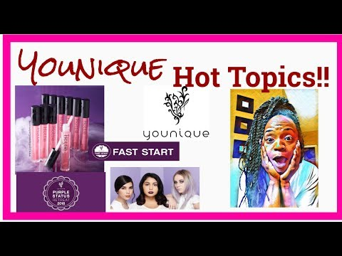 Younique Business Overview *HOTTIE LIPS *Look cards*Fast Start* YOUNIQUE HOT TOPICS