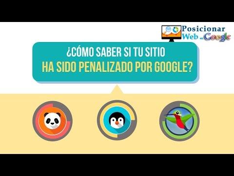 ¿Cómo saber si mi web está penalizada por google?