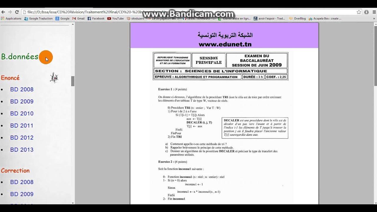 cd rvision pour bac informatique - Resume Informatique Bac Science