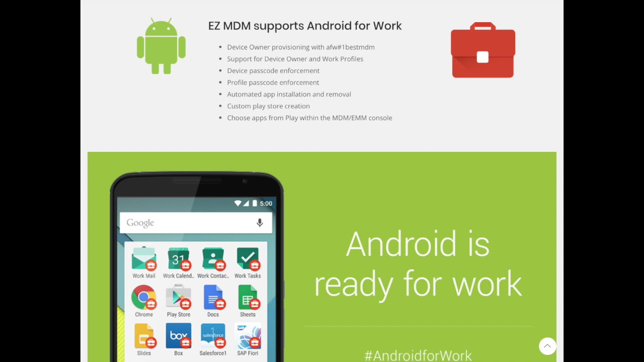 Android and MDM