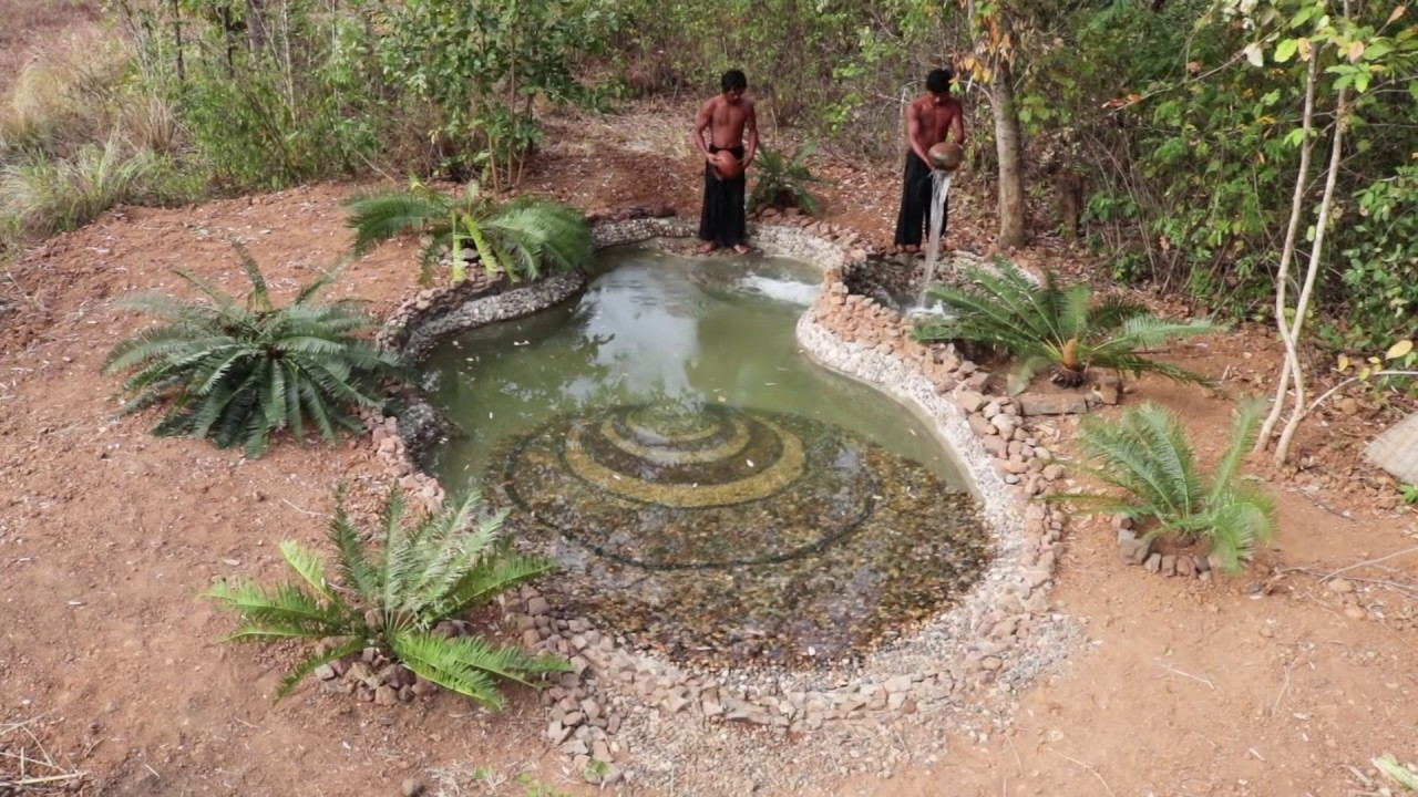 Building The Best Swimming Pool Ancient Skill | Primitive Technology , Building Skill