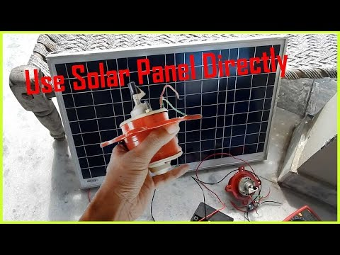Running 12V Dc Load Directly From Solar Panel Without Battery