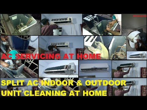 SPLIT AC CLEANING INDOOR AND OUTDOOR UNIT AT HOME | AIR CONDITIONER SERVICING AT HOME