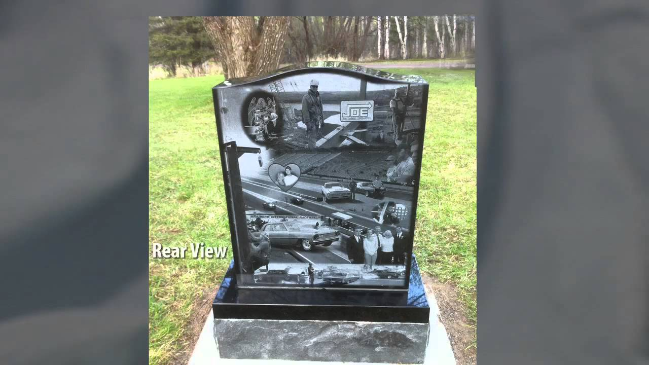 Photo Engraved Life Story Memorial Grave Markers - YouTube