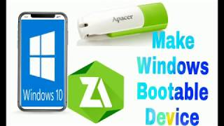 How to make windows Bootable device on Android