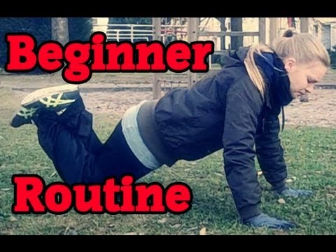 calisthenics/street workout beginner routine  youtube