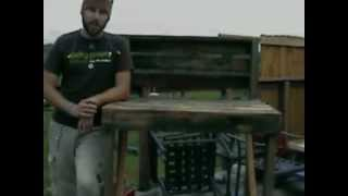How To Build A Garden Table From Recycled Material