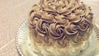 Como decorar bolo de Rosas - Super fácil - Na cozinha -  Decorate Cake degrade roses -CAKE TREND