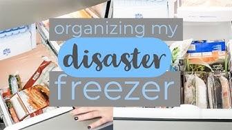 Organizing My Disaster Freezer! || Deep, Small Freezer Organization