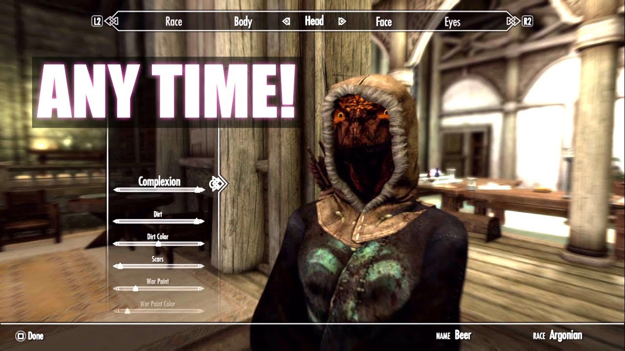 Skyrim PS4 || How to Change your Race and Appearance in a mid game