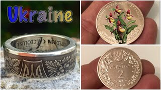 🌻 Ukrainian Coin Ring. Absolutely Fantastic Coin Ring!