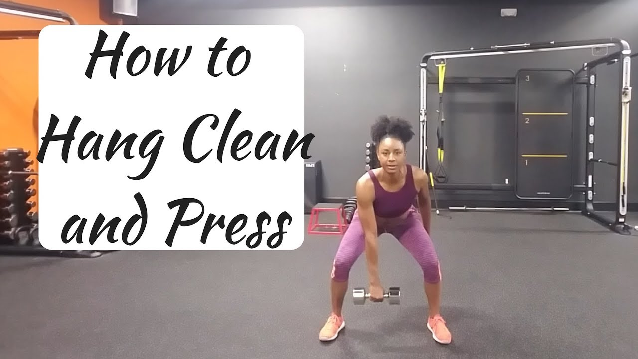 How to Dumbbell Hang Clean and Press - YouTube