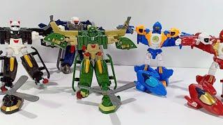 Tobot Y Tobot W  Robot Toys ( 5 Tobot  Pesawat & tobot Helikopter)