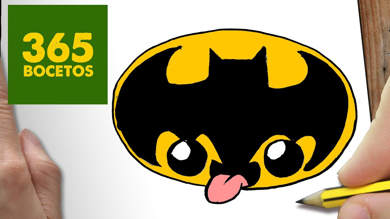 COMO DIBUJAR LOGO BATMAN KAWAII PASO A PASO , Dibujos kawaii faciles , How to draw a LOGO BATMAN , YouTube