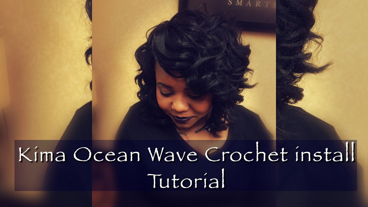 How To Crochet Braids Using Kima Ocean Wave Hair Youtube
