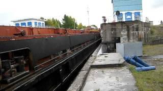 Беломор канал. Корабль заходит в шлюз