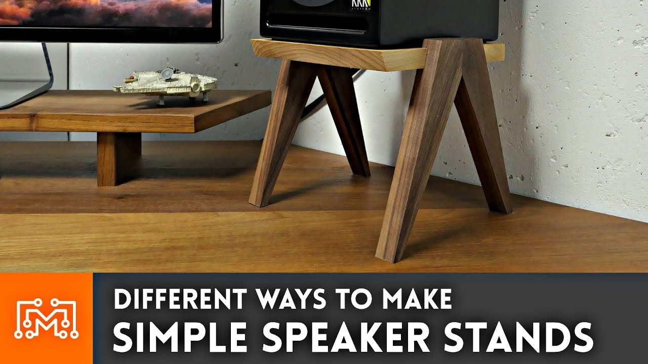 Simple Speaker Stands Woodworking How To Youtube