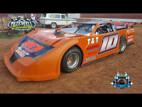 #10 Bubba Long - Sportsman 2nd Feature - 5-28-17 Tazewell Speedway - In-Car Camera