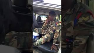 Army officer, arrested by police Highway patrol team for transporting Indian hemp.