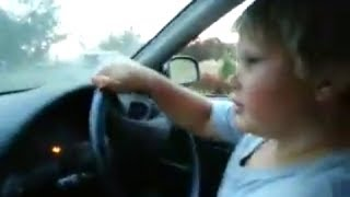 9 year old boy driving a manual