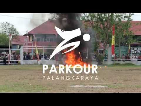 Parkour Palangka Raya di HUT KORPS BRIMOB POLRI 70