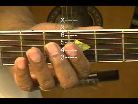 Guitar Chord Form Tutorial #39 No Capo Cm7 Abmaj7 Bb6 G7 Barres ...