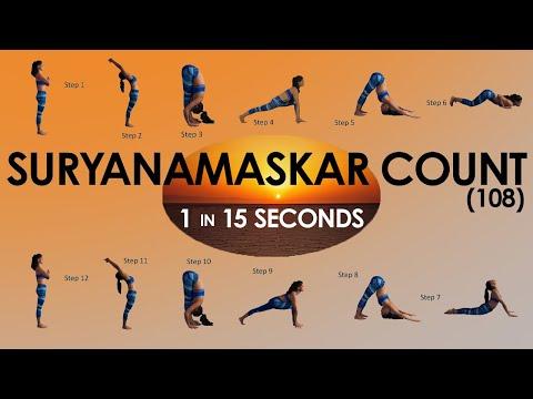 15 Second Count Surya Namaskar