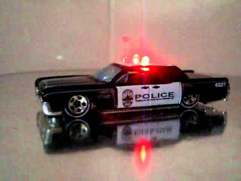 Hot Wheels Custom Lincoln Continental Police Led Lights Youtube