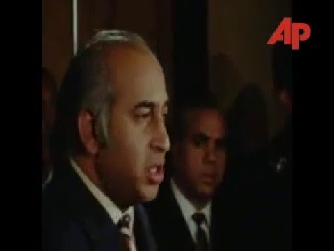 Zulfiqar Ali Bhutto addressing a Press Conference