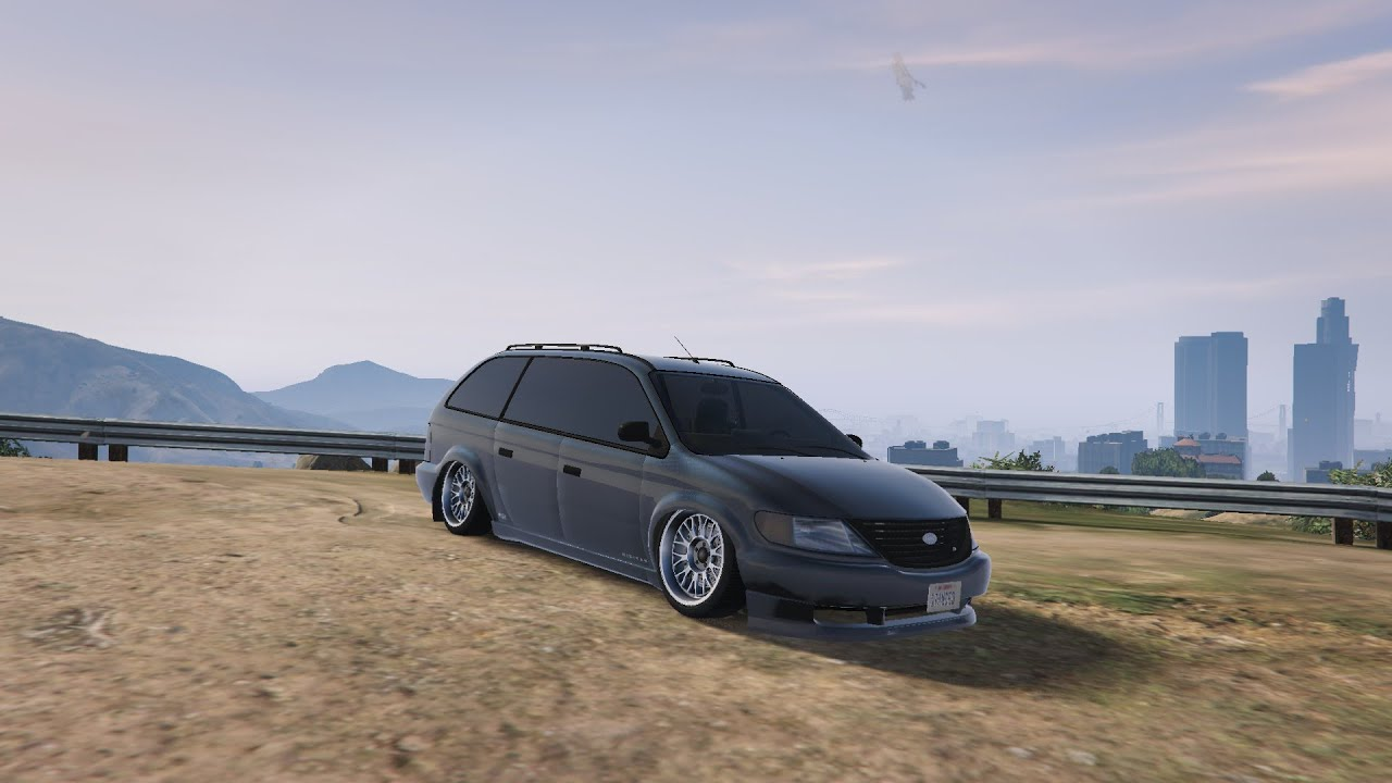 GTA V Stanced Minivan Rockstar Edit