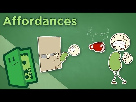 Affordances - How Design Teaches Us Without Words - Extra Credits