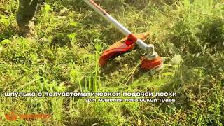 мотокоса электрическая Daewoo DABC 1400E  видео обзор работы