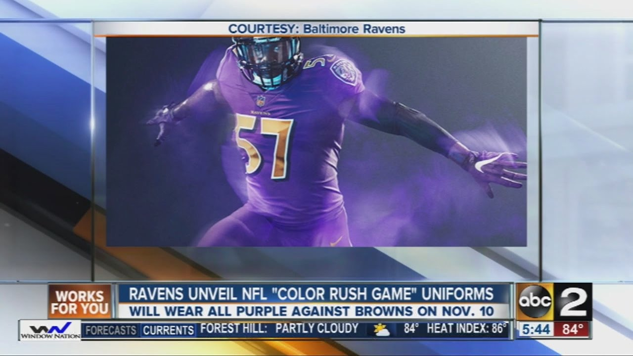 bbc15a5c8 Ravens unveil new uniforms - YouTube