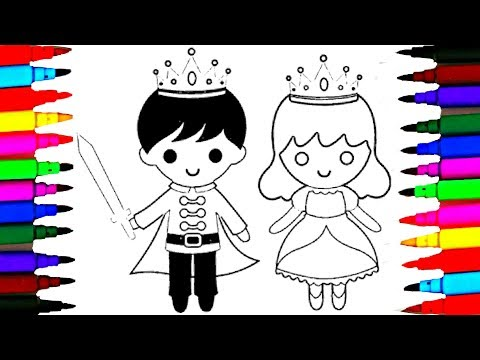 How To Draw Little King And Queen Coloring Pages