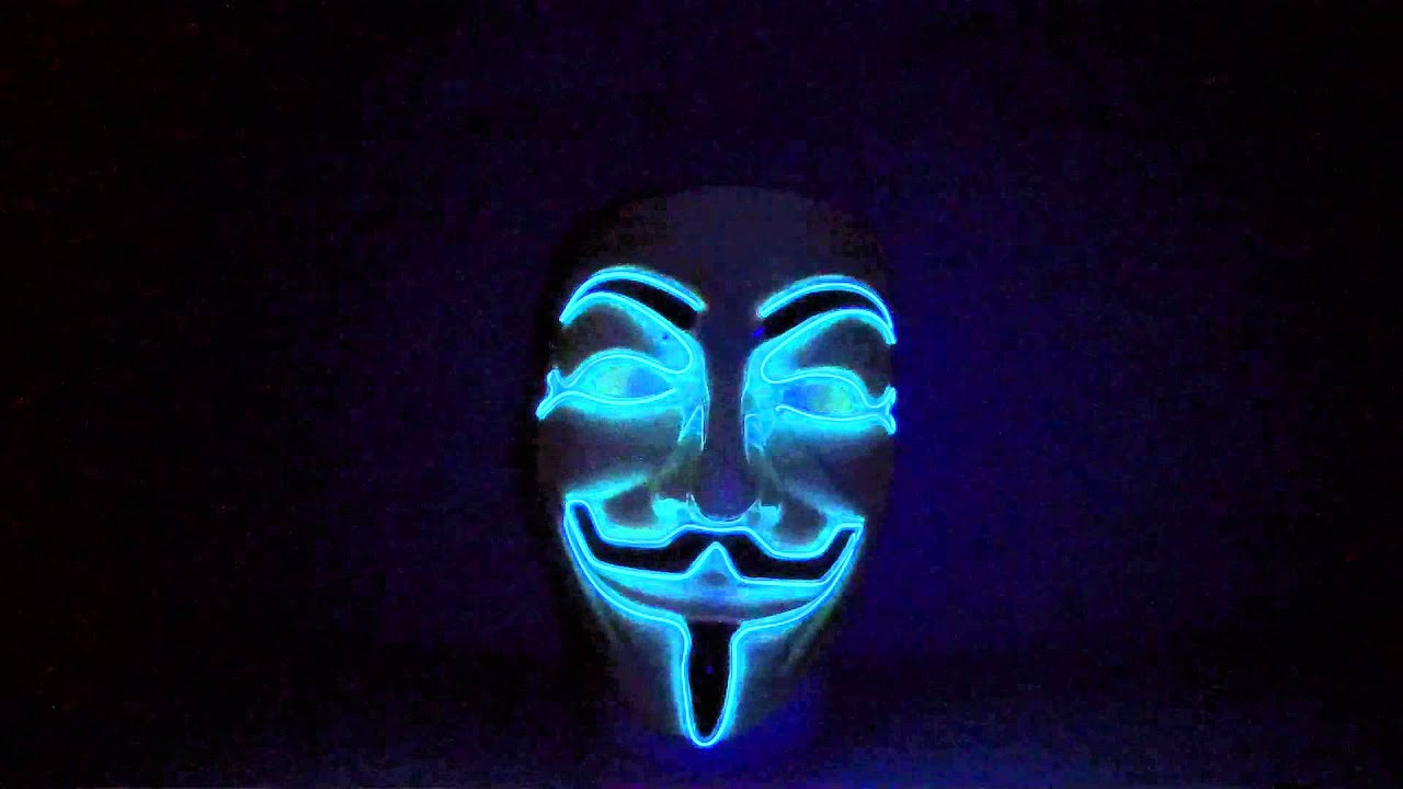 Neon masks anonymous blue youtube - Pictures of anonymous mask ...