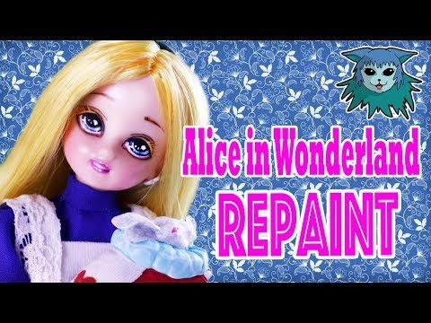 Tutorial: Alice in Wonderland Doll Custom repaint Licca Chan