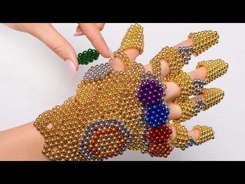 Потрясающая перчатка Таноса, сделанная из магнитных бусин
