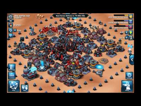 Star Wars commander base layout level 9 HQ- failed rebel attack