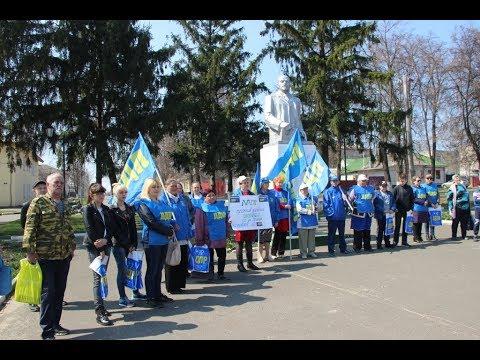 Митинг против закрытия школ в центре г. Щигры