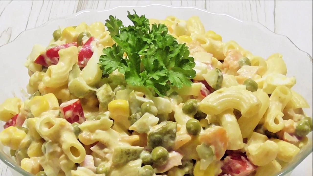 Pyszna salatka z makaronem / Nudelsalat /Kasia ze slaska gotuje