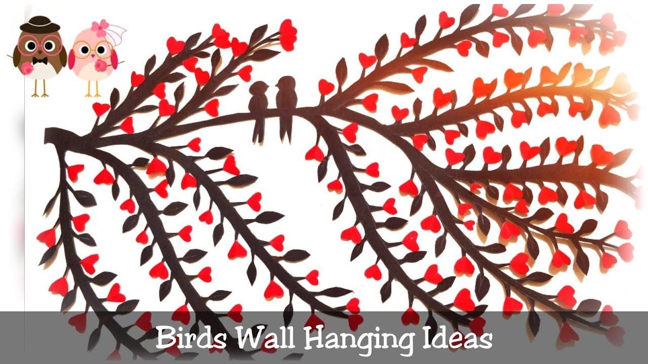 Birds Wall Hanging Ideas   Love Birds   DIY Crafts Ideas   Home Decor   MY Painting World