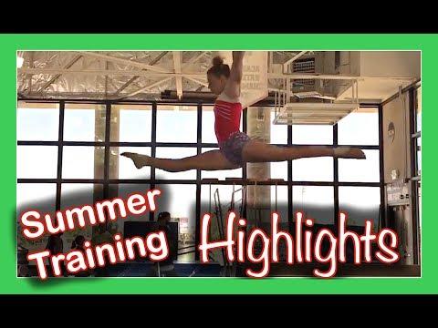SUMMER GYMNASTICS TRAINING HIGHLIGHTS   INSIDE THE GYM   Flippin' Katie