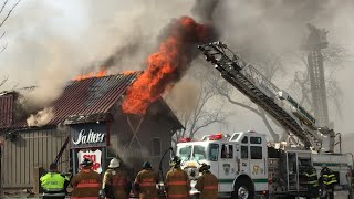 Lower Providence Fire Department 3rd Alarm Building Fire 1/26/18