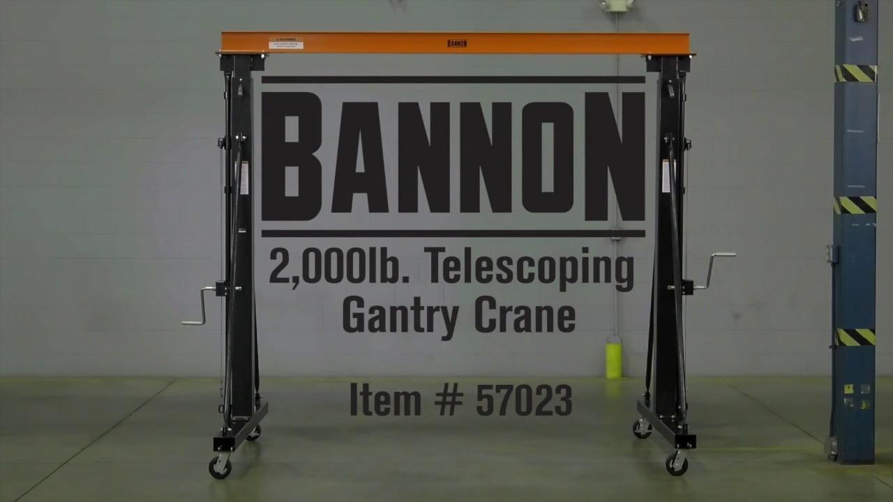 2000 lb Capacity Titan Telescoping Gantry Crane